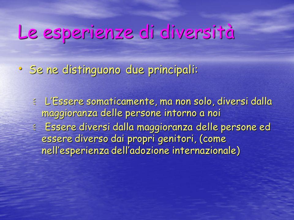 Le esperienze di diversità