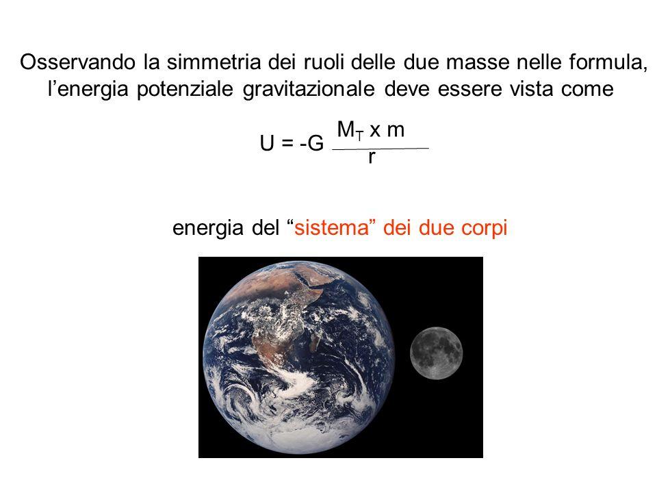Osservando la simmetria dei ruoli delle due masse nelle formula,