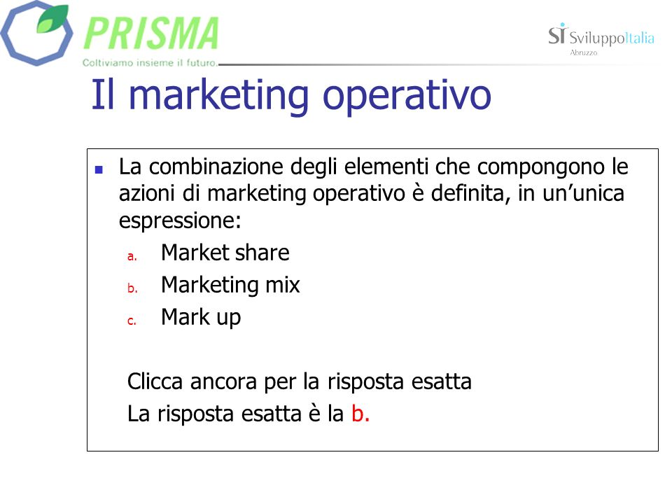 Il marketing operativo