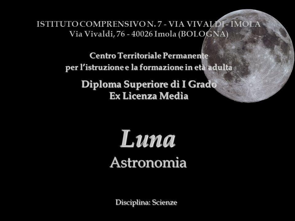 Luna Astronomia Diploma Superiore di I Grado Ex Licenza Media
