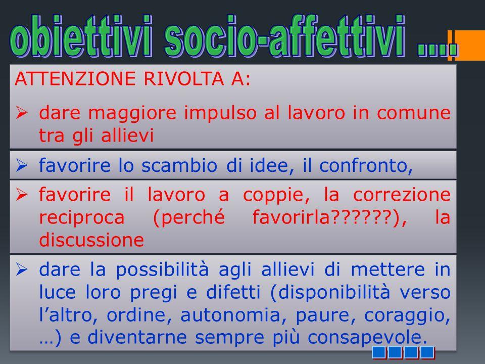 obiettivi socio-affettivi ....