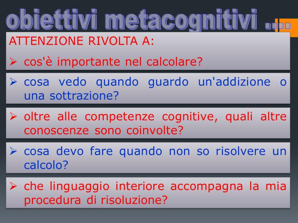 obiettivi metacognitivi ....