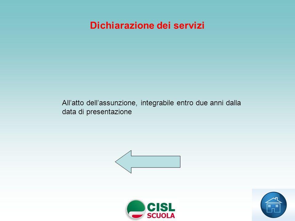 Dichiarazione dei servizi