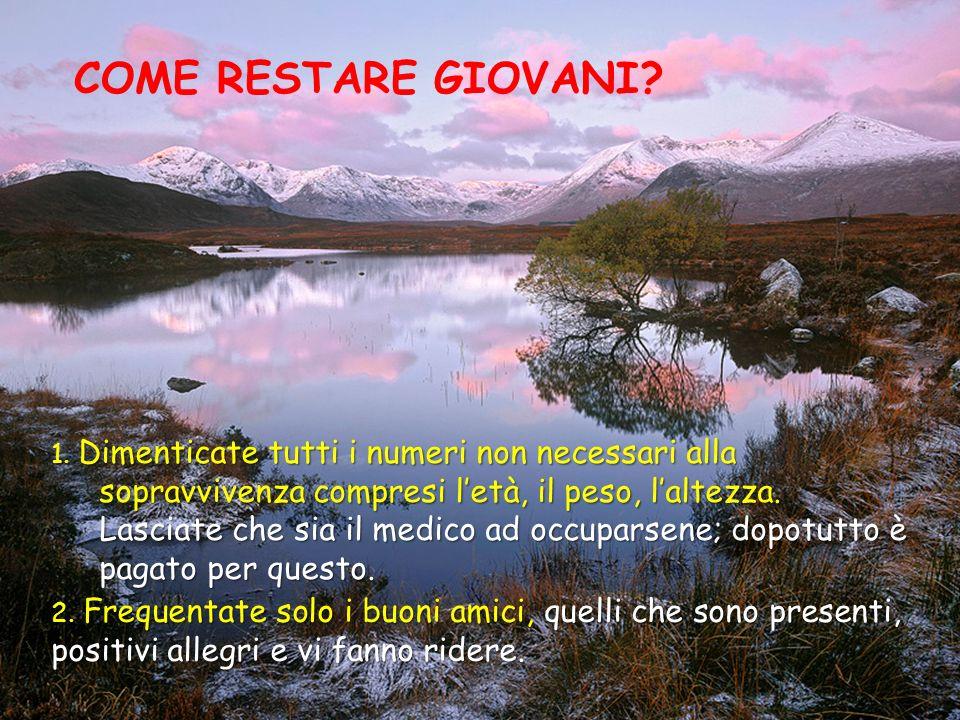 COME RESTARE GIOVANI