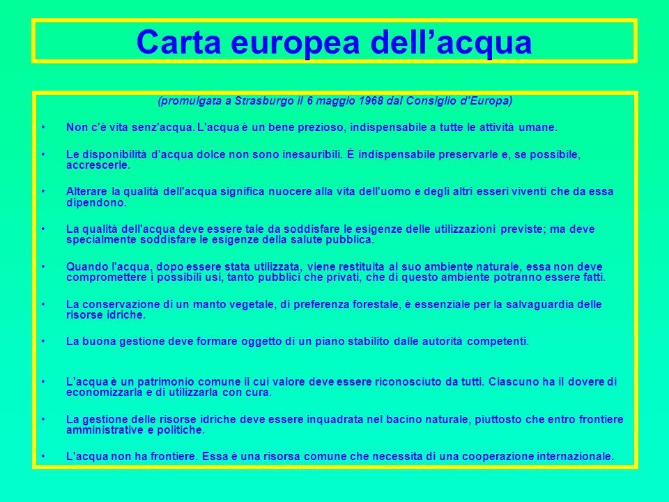 Carta europea dell'acqua
