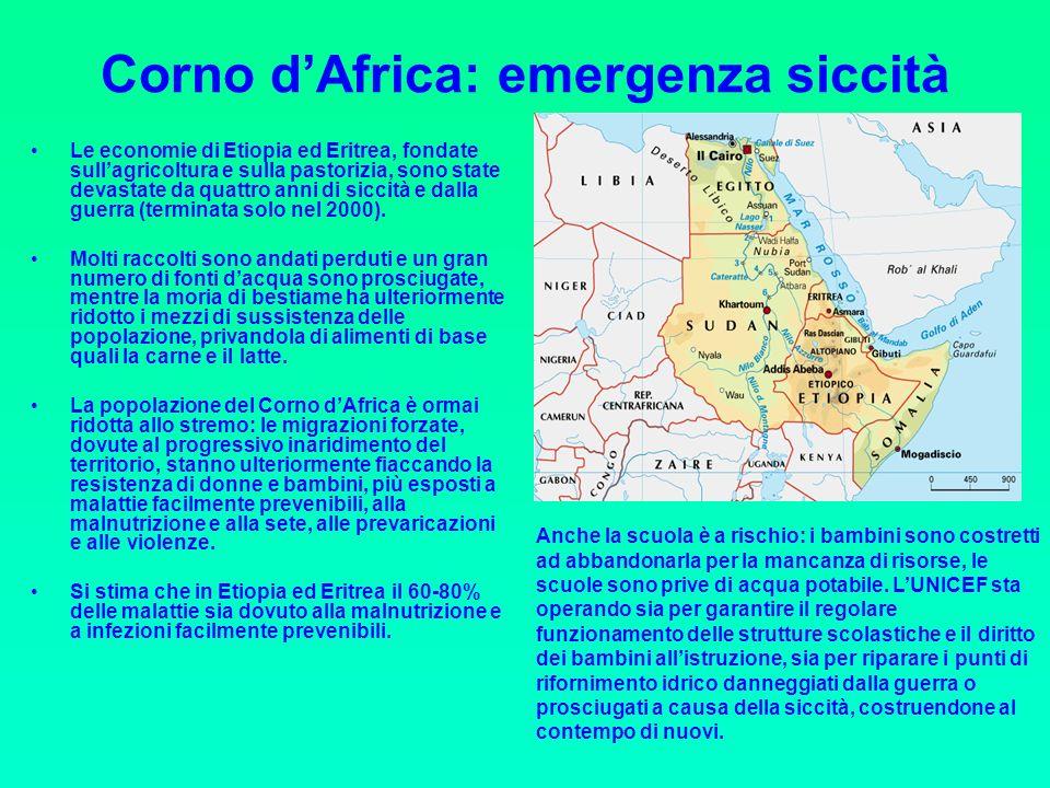Corno d'Africa: emergenza siccità