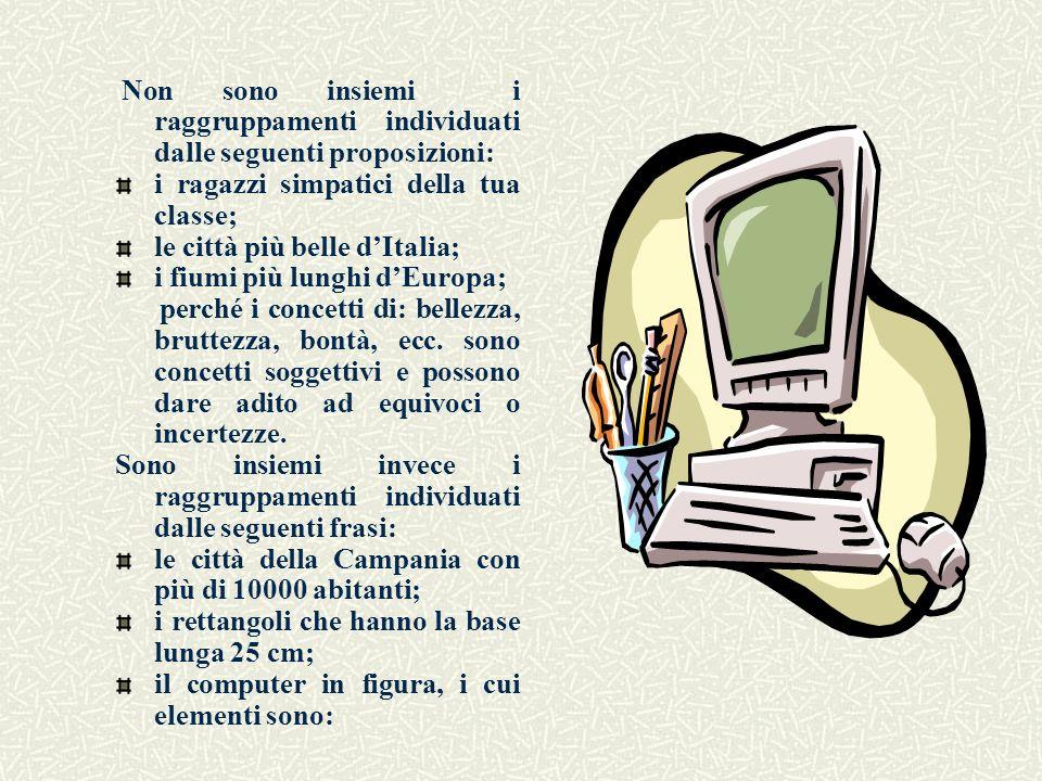 i ragazzi simpatici della tua classe; le città più belle d'Italia;