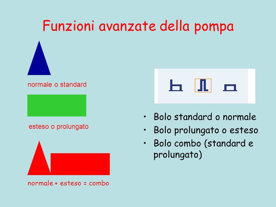 Funzioni avanzate della pompa