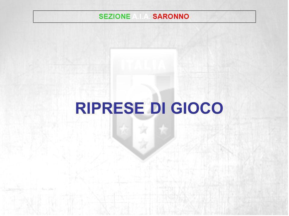 SEZIONE A.I.A. SARONNO RIPRESE DI GIOCO