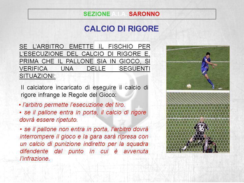 CALCIO DI RIGORE SEZIONE A.I.A. SARONNO