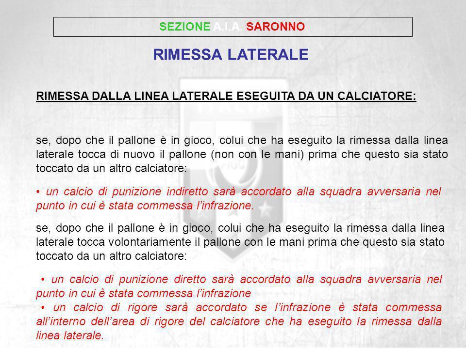 RIMESSA LATERALE SEZIONE A.I.A. SARONNO
