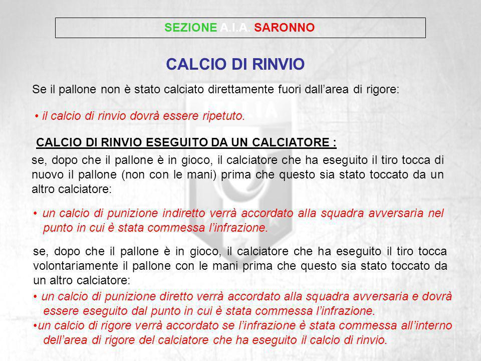 CALCIO DI RINVIO SEZIONE A.I.A. SARONNO