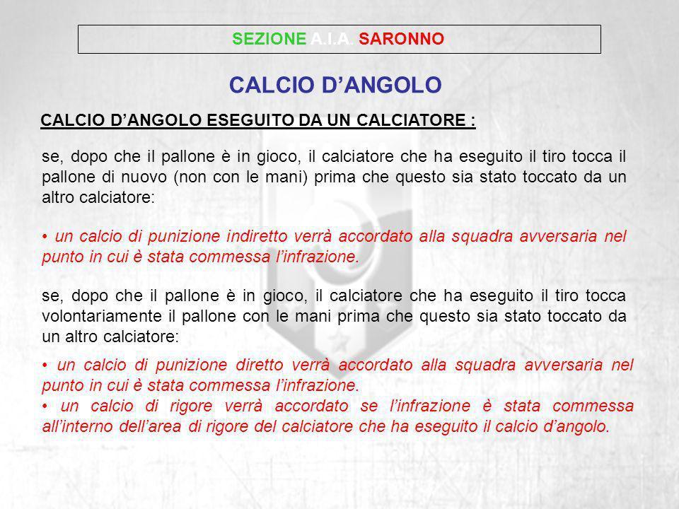 CALCIO D'ANGOLO SEZIONE A.I.A. SARONNO