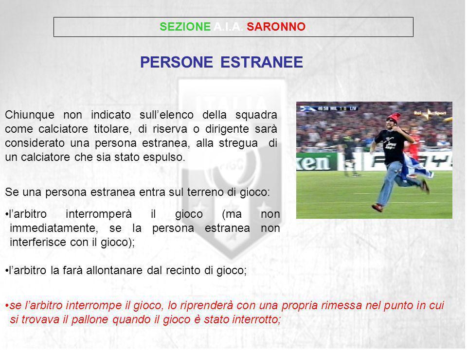 PERSONE ESTRANEE SEZIONE A.I.A. SARONNO