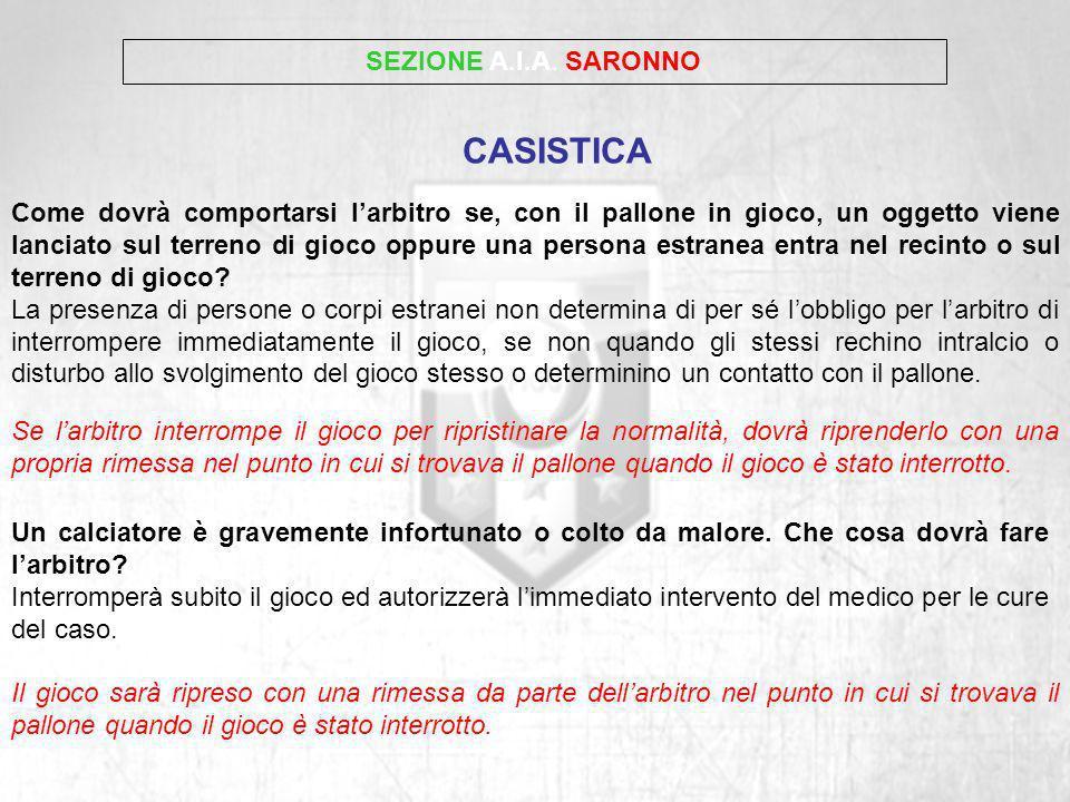 CASISTICA SEZIONE A.I.A. SARONNO
