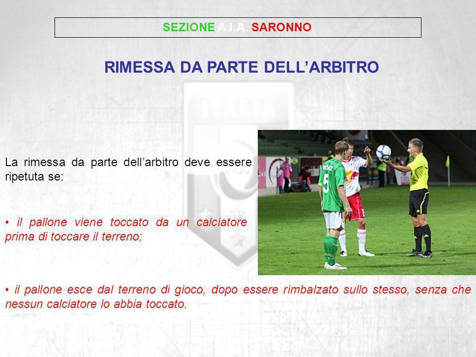 RIMESSA DA PARTE DELL'ARBITRO