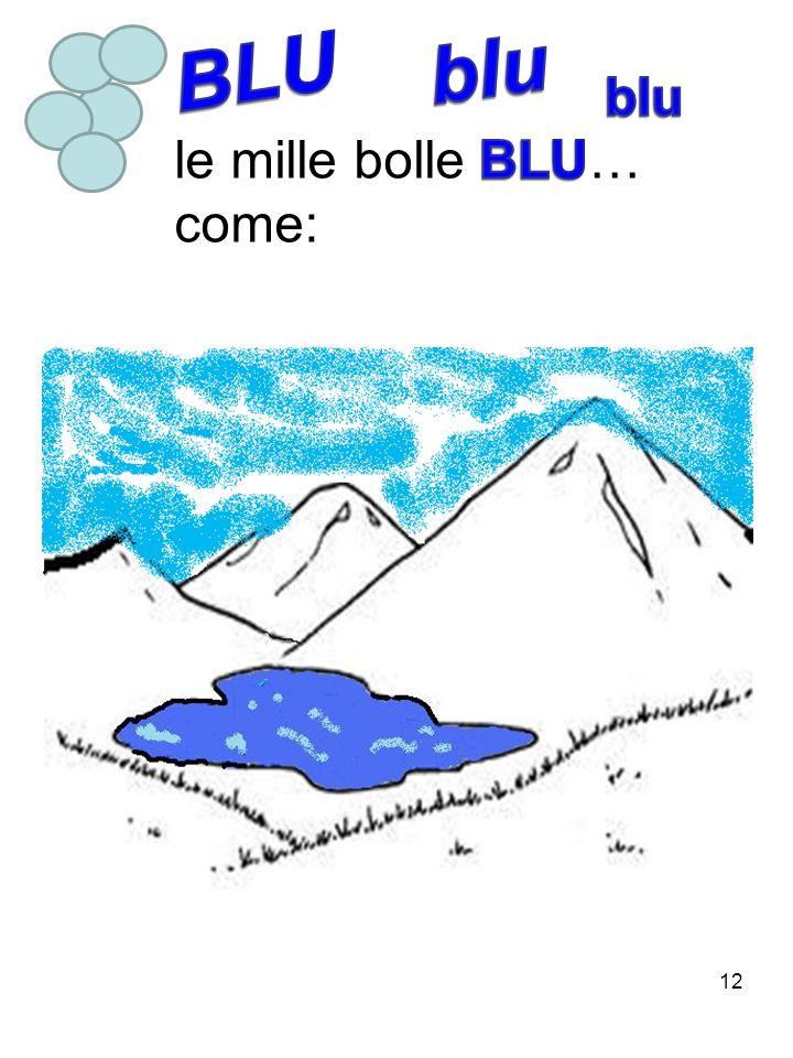 BLU blu blu le mille bolle BLU… come: