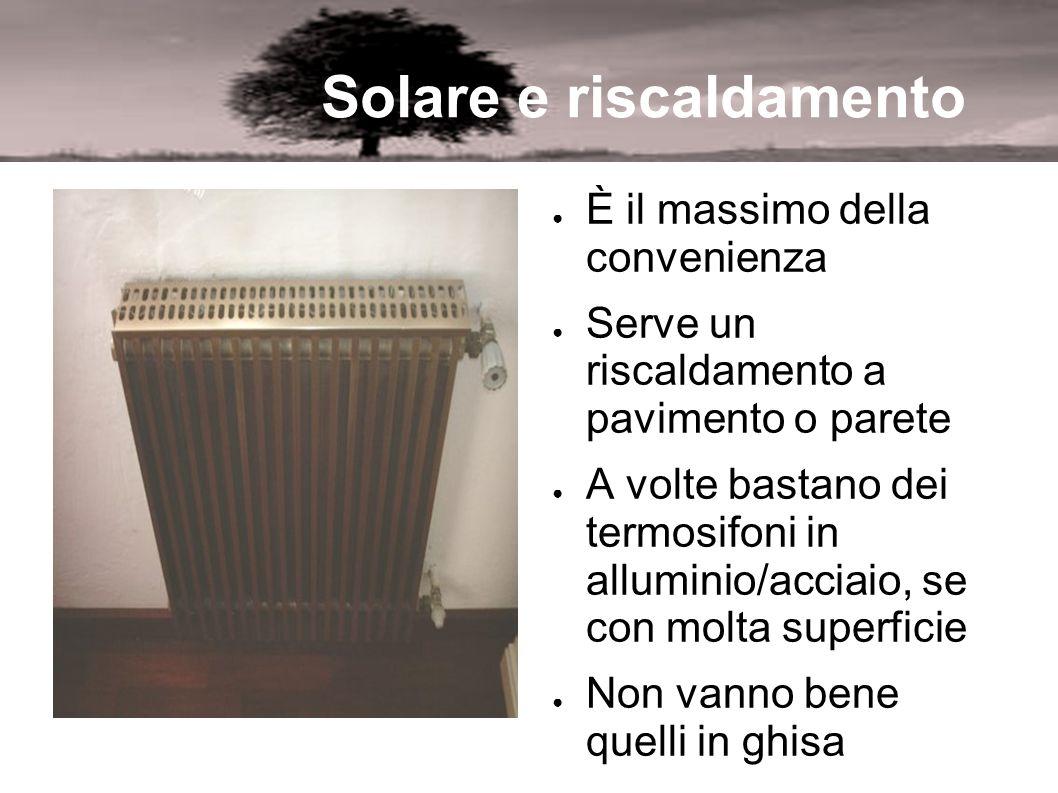 Solare e riscaldamento