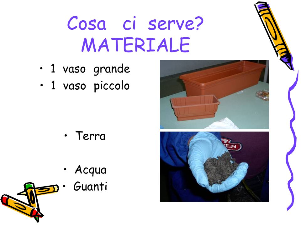 Cosa ci serve MATERIALE