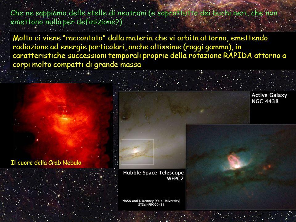 Che ne sappiamo delle stelle di neutroni (e soprattutto dei buchi neri, che non emettono nulla per definizione )