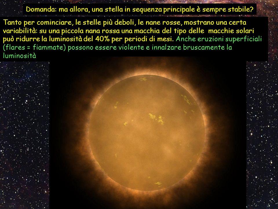 Domanda: ma allora, una stella in sequenza principale è sempre stabile