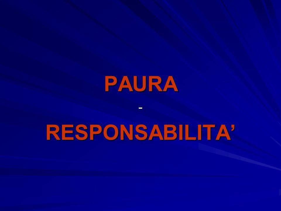 PAURA RESPONSABILITA'