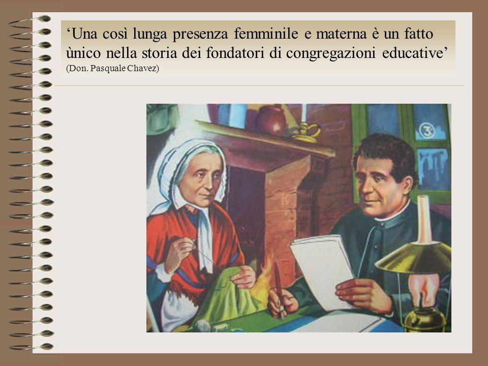 'Una così lunga presenza femminile e materna è un fatto ùnico nella storia dei fondatori di congregazioni educative'