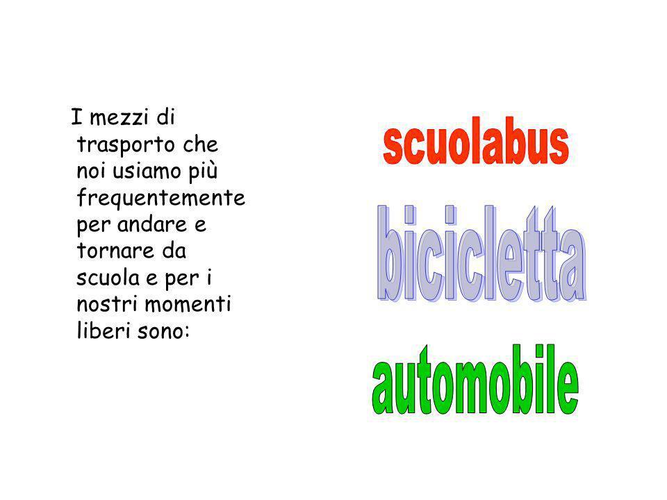scuolabus bicicletta automobile