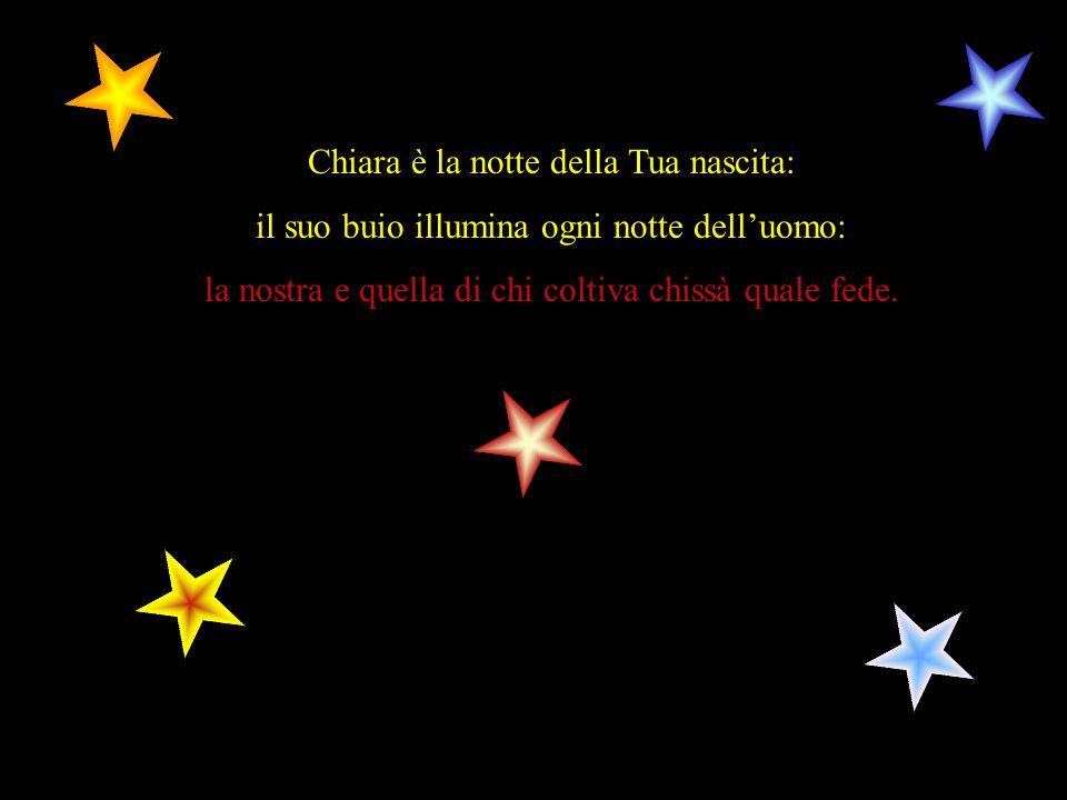 Chiara è la notte della Tua nascita: