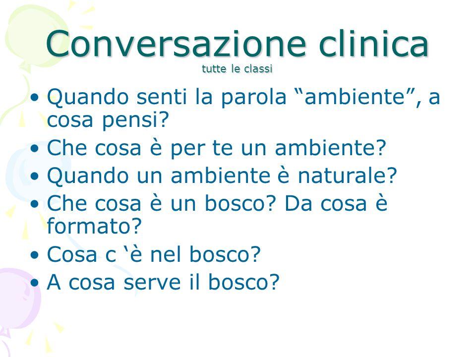 Conversazione clinica tutte le classi