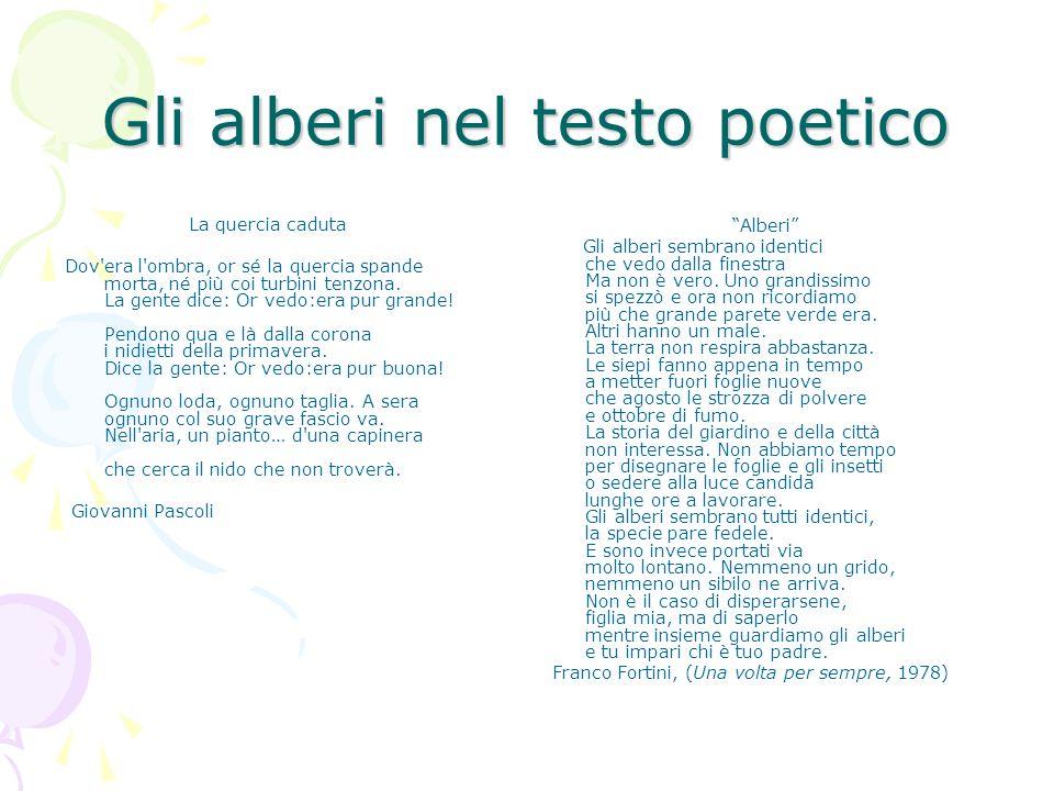 Gli alberi nel testo poetico