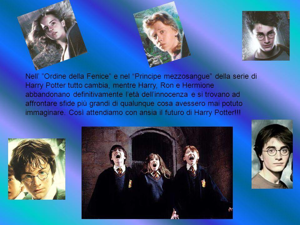 Nell' Ordine della Fenice e nel Principe mezzosangue della serie di Harry Potter tutto cambia, mentre Harry, Ron e Hermione abbandonano definitivamente l'età dell'innocenza e si trovano ad affrontare sfide più grandi di qualunque cosa avessero mai potuto immaginare.