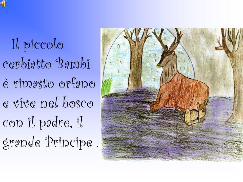 Il piccolo cerbiatto Bambi è rimasto orfano e vive nel bosco con il padre, il grande Principe .