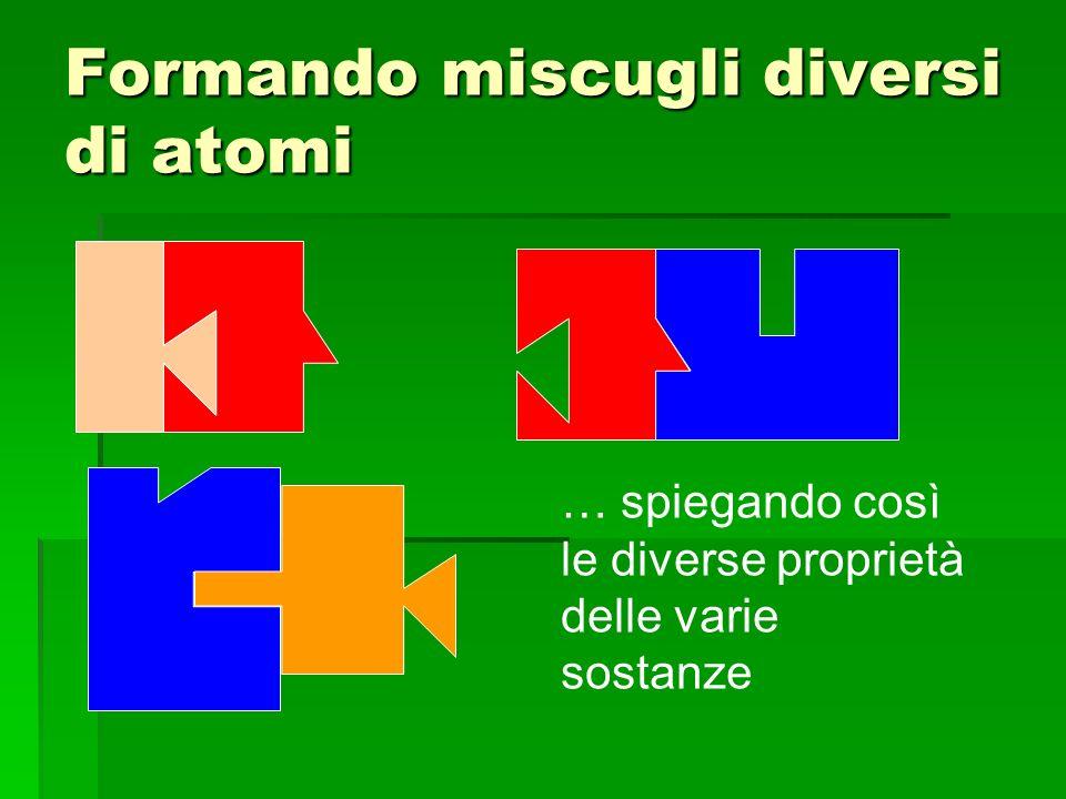 Formando miscugli diversi di atomi