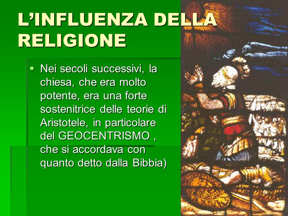 L'INFLUENZA DELLA RELIGIONE