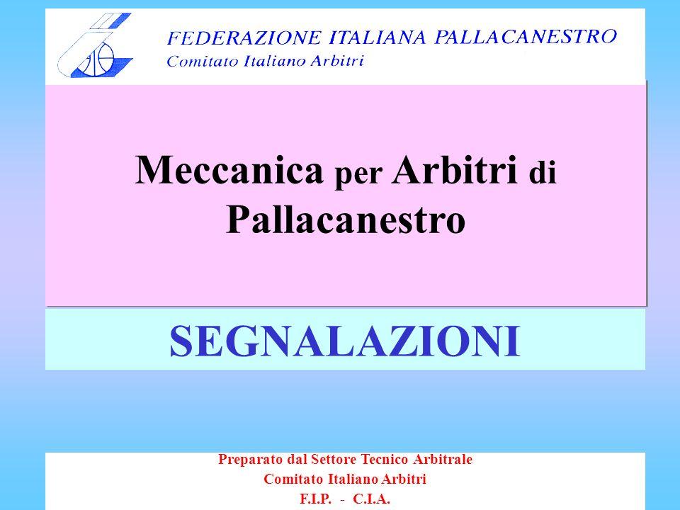 SEGNALAZIONI Meccanica per Arbitri di Pallacanestro
