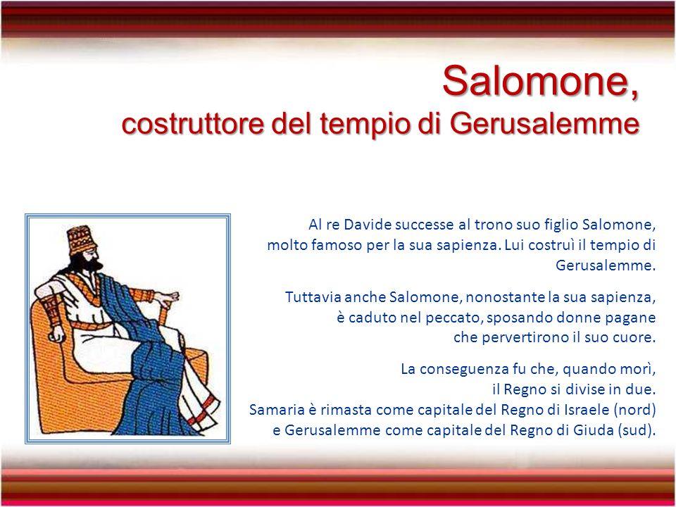 Salomone, costruttore del tempio di Gerusalemme