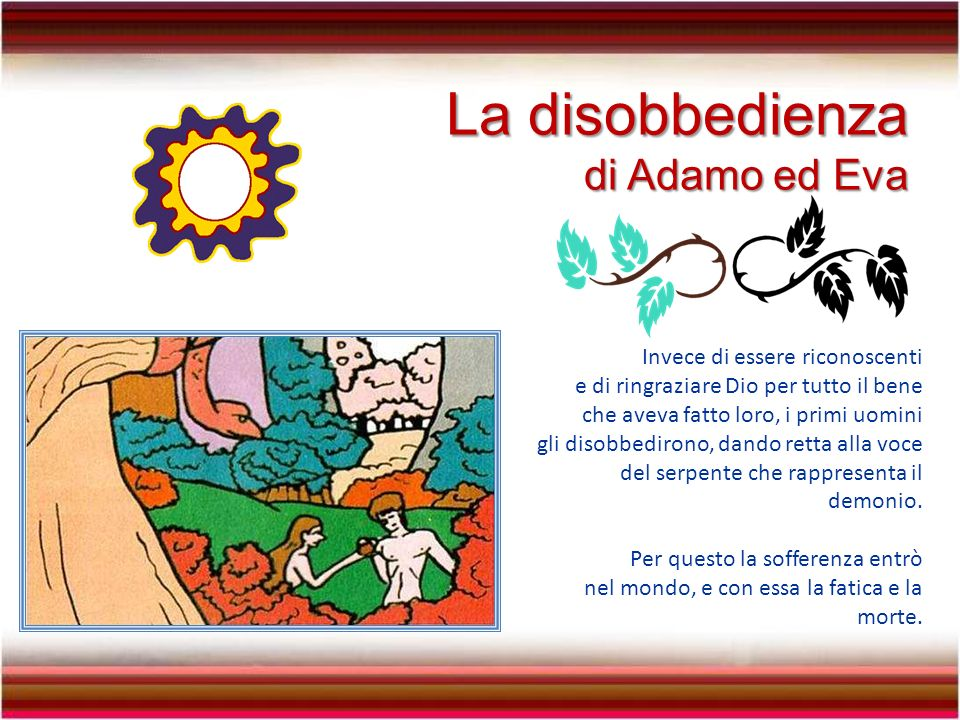 La disobbedienza di Adamo ed Eva