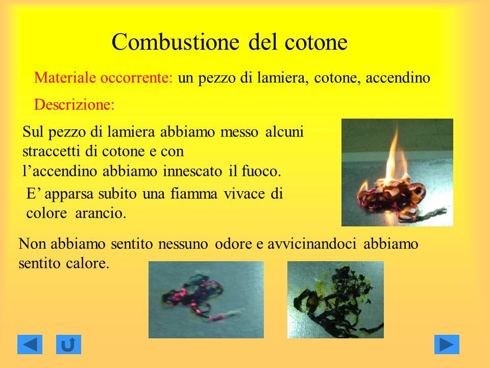 Combustione del cotone