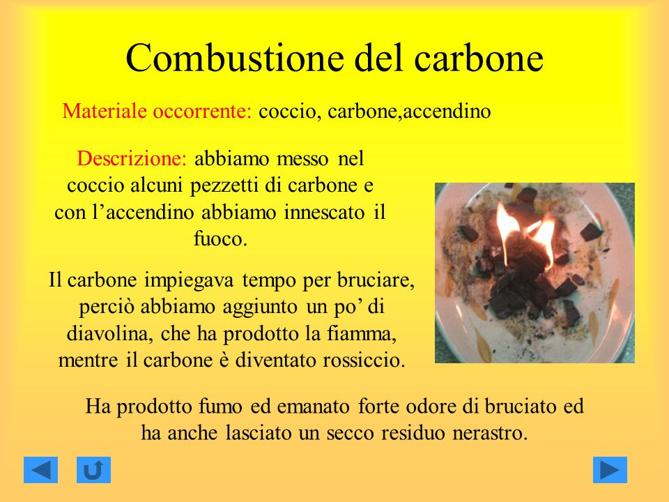 Combustione del carbone
