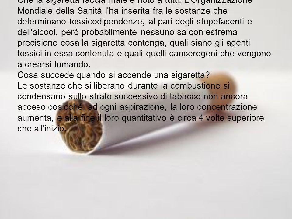 Che la sigaretta faccia male è noto a tutti
