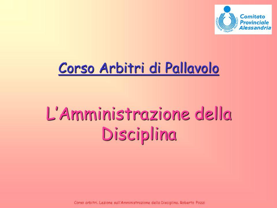 L'Amministrazione della Disciplina