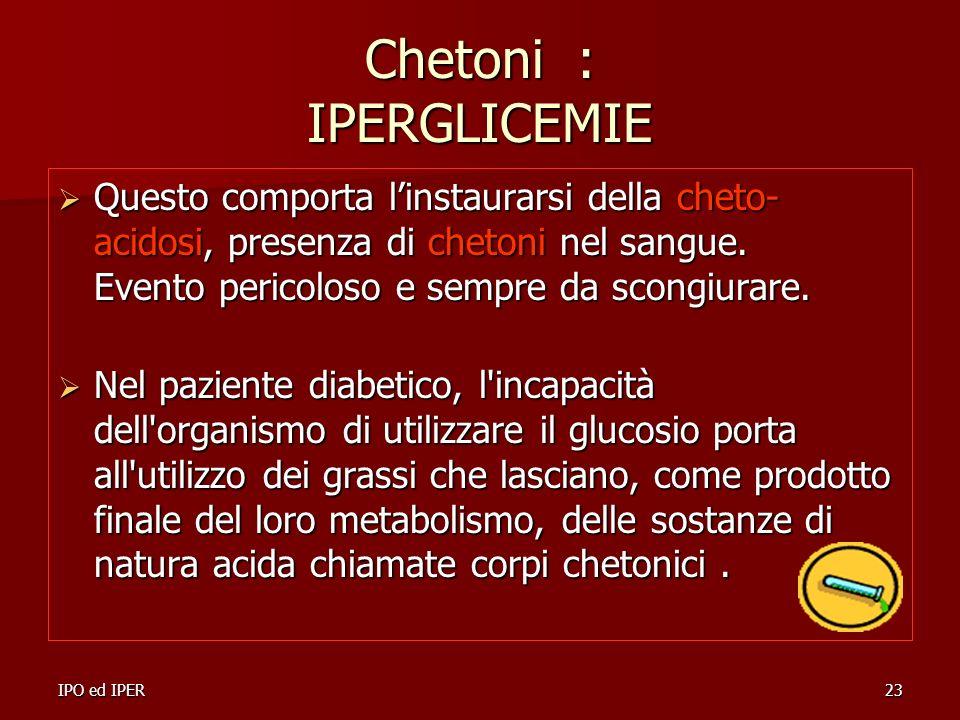 Chetoni : IPERGLICEMIE