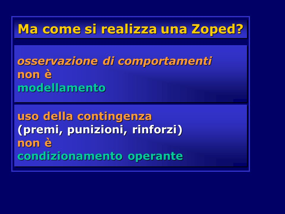 Ma come si realizza una Zoped