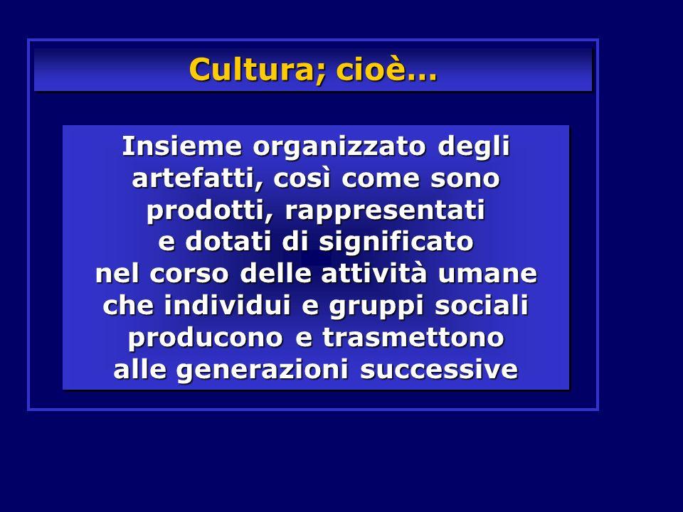 Cultura; cioè…