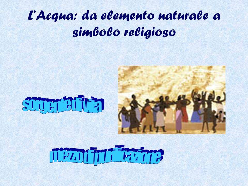 L'Acqua: da elemento naturale a simbolo religioso