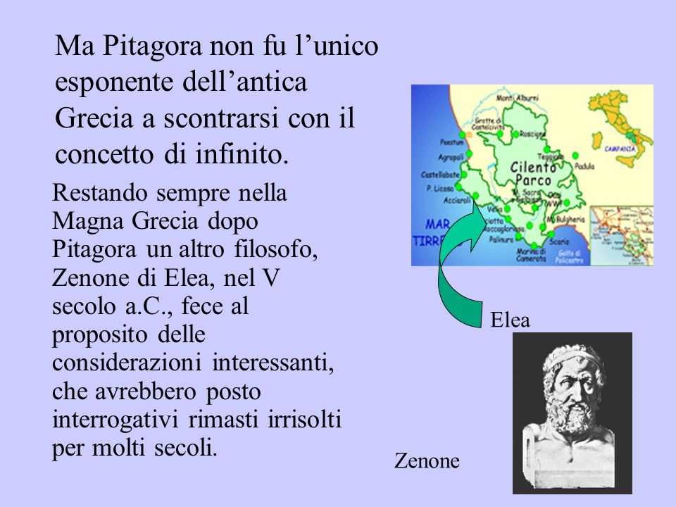Ma Pitagora non fu l'unico esponente dell'antica Grecia a scontrarsi con il concetto di infinito.