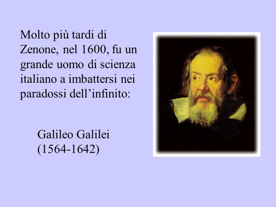 Molto più tardi di Zenone, nel 1600, fu un grande uomo di scienza italiano a imbattersi nei paradossi dell'infinito: