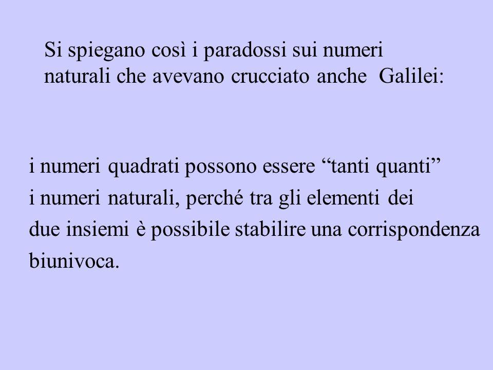 Si spiegano così i paradossi sui numeri naturali che avevano crucciato anche Galilei: