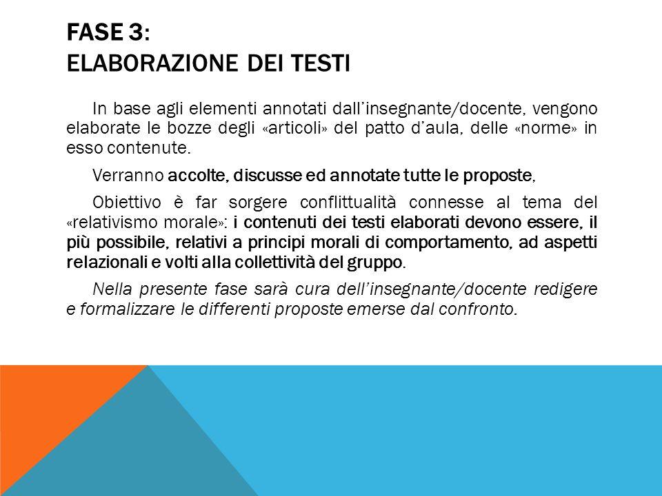 FASE 3: ELABORAZIONE DEI TESTI